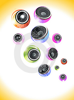 Abstract Colorful Musical Background With Sound Stock Images - Image: 20502624