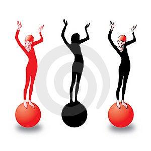 Girl On Ball Stock Photos - Image: 20506243