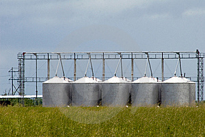 Grain Silos Royalty Free Stock Photography - Image: 20506257