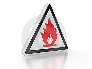 Triangle Flammable Warning 3d Sign Royalty Free Stock Photos - Image: 20510098