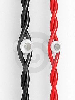 Wiring On Ceramic Insulators Royalty Free Stock Photo - Image: 20510115