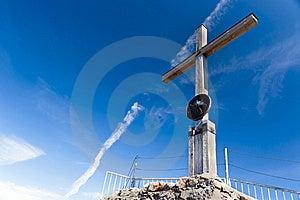 Nebelhorn Summit Cross Royalty Free Stock Photography - Image: 20511527