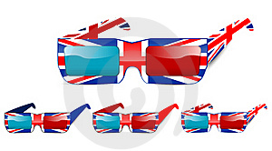 3d Uk Glasses Stock Photography - Image: 20511852