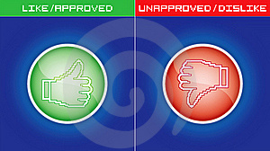 Like And Dislike Button Icons Stock Photo - Image: 20512320