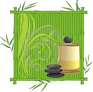 Spa Oil In The Bamboo Frame Stock Image - Image: 20512641