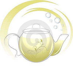 Teapot With Green Tea Royalty Free Stock Photography - Image: 20512647