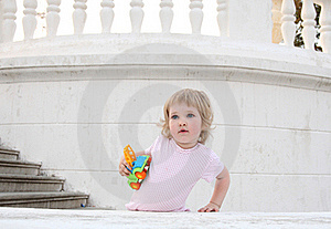 Baby With A Toy Royalty Free Stock Photos - Image: 20513168