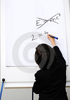 Genius Little Boy Writting E=mc2 Stock Photo - Image: 20513690