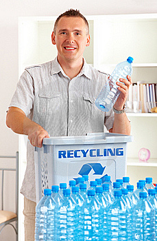 Recycling Man With Bottles Stock Photography - Image: 20513732