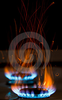 Sparks And Flames Royalty Free Stock Image - Image: 20514536