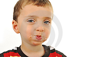 Messy Boy, After Eating Stock Photography - Image: 20515892