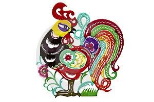 Paper-cut Cock Stock Image - Image: 20516011