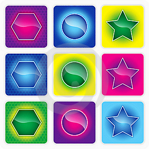 Glossy Color Web Buttons Stock Photos - Image: 20516033