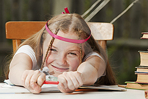 Portrait Of The Young Girl Stock Photography - Image: 20517242