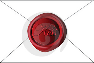 Sealed With A Kiss Stock Photo - Image: 20520420