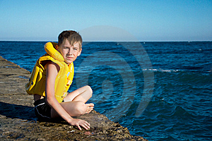 Boy In Yellow Life Jacket Royalty Free Stock Images - Image: 20521899