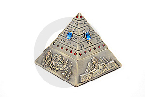 Pyramid With Egyptian Figures Stock Images - Image: 20522104