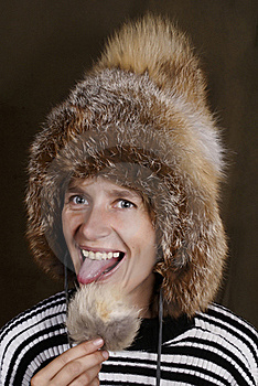 Cap From The Fox Fur. Stock Images - Image: 20524344