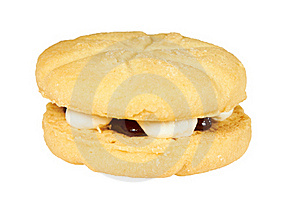 Jam And Cream Cookie Royalty Free Stock Images - Image: 20524519