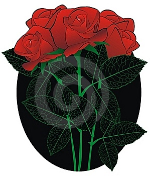Rose Bouquet In The Black Royalty Free Stock Photos - Image: 20524638