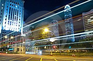 Hong Kong Traffic At Night Royalty Free Stock Image - Image: 20524976
