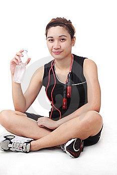 Lady Athlete Royalty Free Stock Image - Image: 20526086