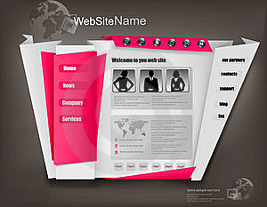 Business Website Design Template. Vector Royalty Free Stock Images - Image: 20526369