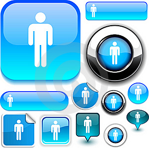 Male Blue Signs. Stock Photography - Image: 20527942