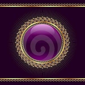 Golden Ornamental Medallion For Design Stock Image - Image: 20528911
