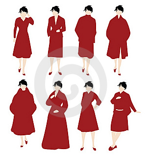 Women In Red Stock Photo - Image: 20529200