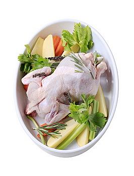 Raw Chicken And Vegetables Stock Photo - Image: 20529480