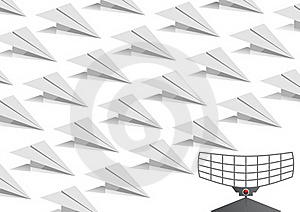 Paper Planes Royalty Free Stock Photos - Image: 20530138