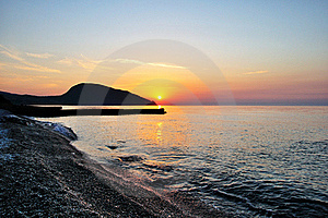 Sunrise Over The Sea Royalty Free Stock Image - Image: 20530266