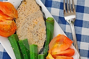 Mixed Vegetables Fish Delicacy Stock Image - Image: 20530341