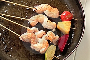 Chicken Skewers Royalty Free Stock Photography - Image: 20530707