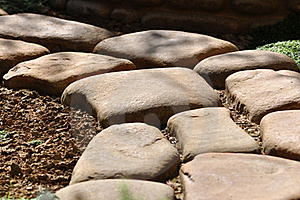 Stone Footpath Royalty Free Stock Photography - Image: 20530807