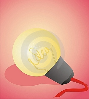 Idea Lamp Stock Images - Image: 20531104