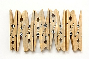 Wooden Pegs Royalty Free Stock Images - Image: 20532859