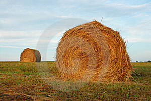 Two Haystacks Royalty Free Stock Image - Image: 20533576