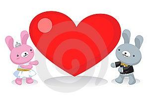 Wedding Rabbit Carry Love Stock Photos - Image: 20534033
