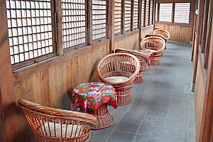 Cane Chairs Royalty Free Stock Image - Image: 20536096