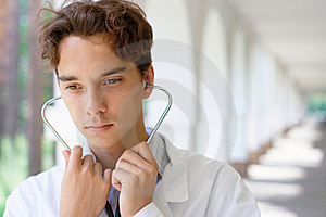 Young Serious Doctor Royalty Free Stock Image - Image: 20536916