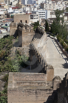 The Alcazaba Of Almeria Royalty Free Stock Photography - Image: 20538657