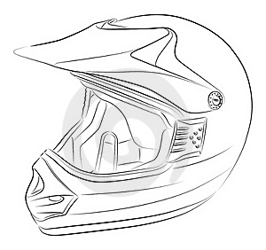 Motocross Helmet Drawing Stock Photography - Image: 20539432