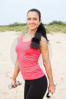 Female On The Beach Stock Images - Image: 20540124