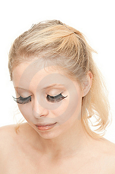 Blond Woman With Long Eyelashes Royalty Free Stock Photos - Image: 20541498