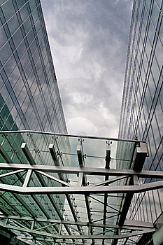 The Architectural Building Business Center Is Cyan Stock Photos - Image: 20541523