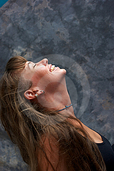 Profile Portrait Of Beautiful Smiling Woman Royalty Free Stock Photo - Image: 20542685