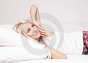 Woman Waking Up Royalty Free Stock Images - Image: 20543549