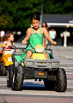 Little Girl Driving Stock Photos - Image: 20544123